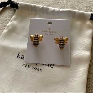 Kate Spade Pave Bee Stud Earrings